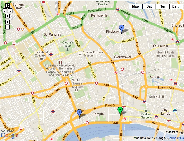 Kings College London Map.Workshop Locations Maths Of String And Gauge Theory